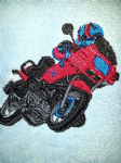MOTOR BIKE PERSONALISED FACE CLOTH